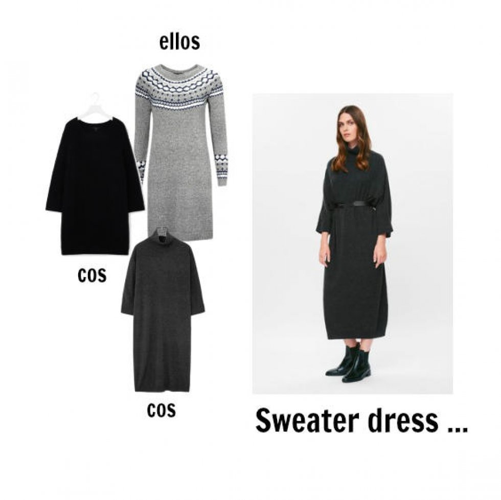 Sweater dress i chunky strik fra COS - Lun, lunere, sweater dress